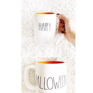 Rae Dunn Orange HAPPPY HALLOWEEN Mug NWT